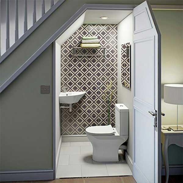 Những ưu điểm khi đặt toilet dưới gầm cầu thang 1