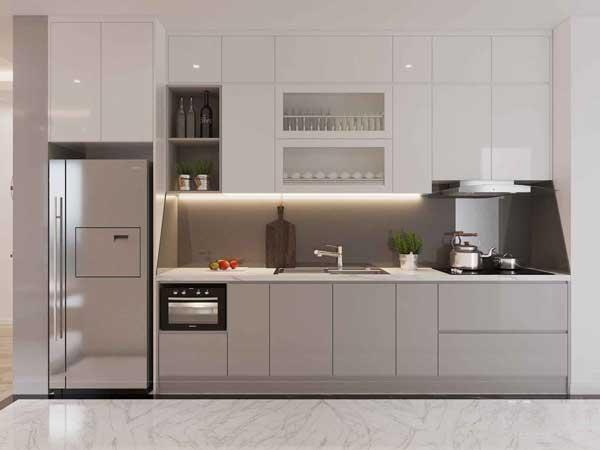 Phòng bếp có thiết kế hiện đại cho nhà ống 1
