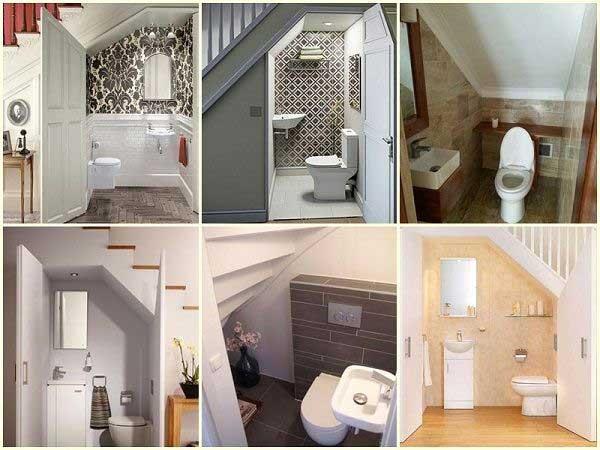 Toilet dưới gầm cầu thang những điều cần lưu ý