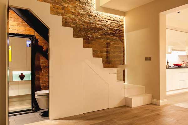 Một số mẫu nhà vệ sinh dưới gầm cầu thang đẹp tham khảo 6