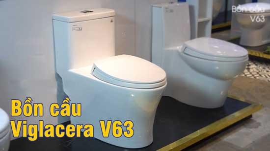 Bồn cầu Viglacera V63 một khối 1