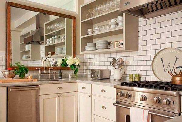 Nên đặt gương ở đâu trong nhà bếp 1