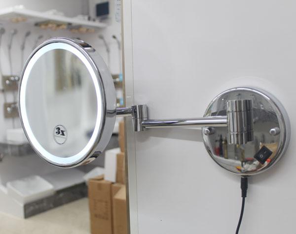 Gương cạo râu đèn Led NP-339( pin-điện)