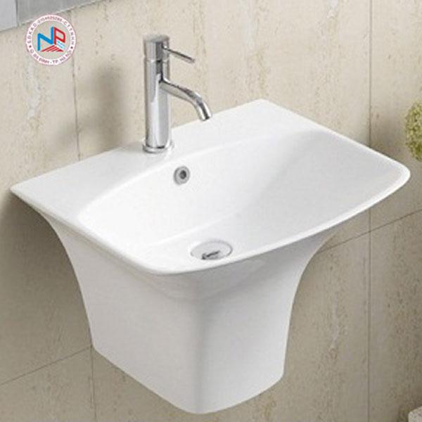 Chậu rửa mặt lavabo ROY R-5200B chân liền 1