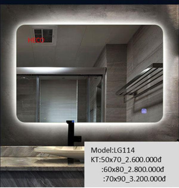 Gương đèn led phòng tắm 1
