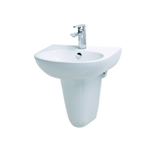 Chậu lavabo treo tường Caesar L2152 + P2443