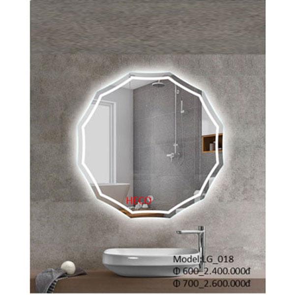 Gương sấy cảm ứng đèn Led Heco LG-018 1