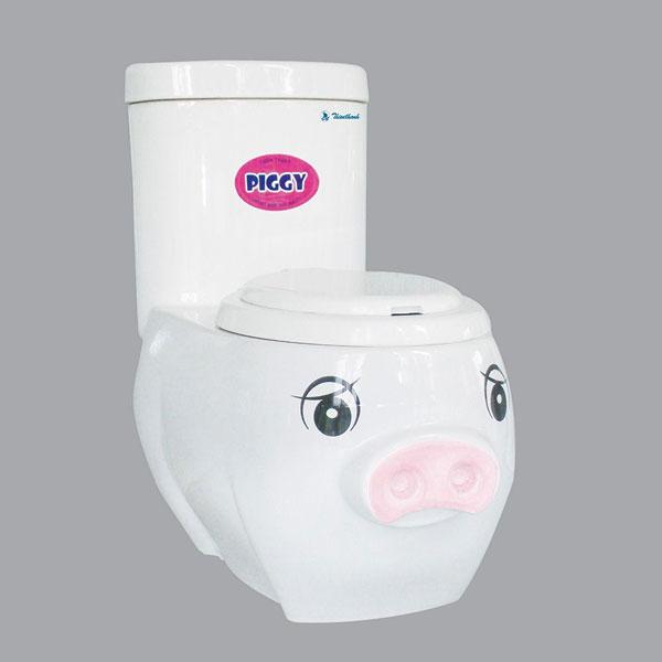 Bồn cầu trẻ em thiên thanh Piggy P0217TS2T 1