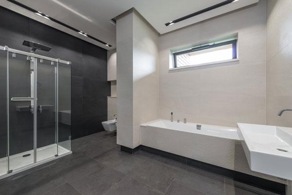Thiết kế đơn giản với 2 bồn tắm 1