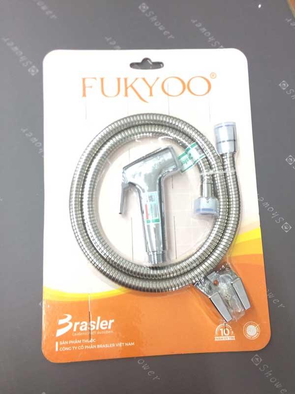 Vòi xịt toilet mạ crom Fukyoo
