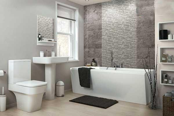 Lavabo vuông cho phòng tắm kích thước 6m2 1