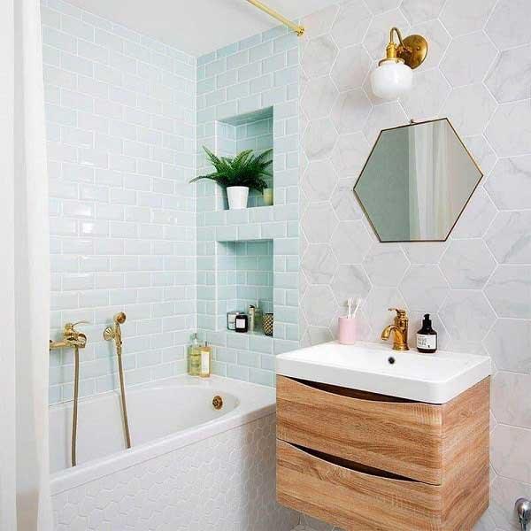 Lavabo vuông cho phòng tắm kích thước 4m2 1