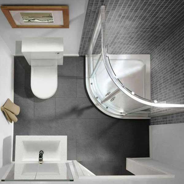Lavabo vuông cho phòng tắm kích thước 2m2 1