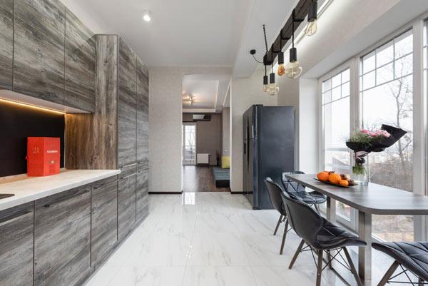 Thiết kế hiện đại cho phòng bếp nhà ống 1