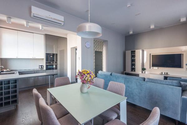 Thiết kế phòng bếp liền kề với phòng khách 1
