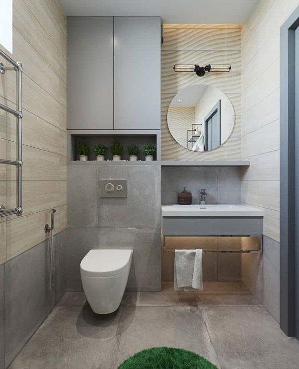 Thiết kế phòng tắm nhỏ 3m2 hiện đại 1