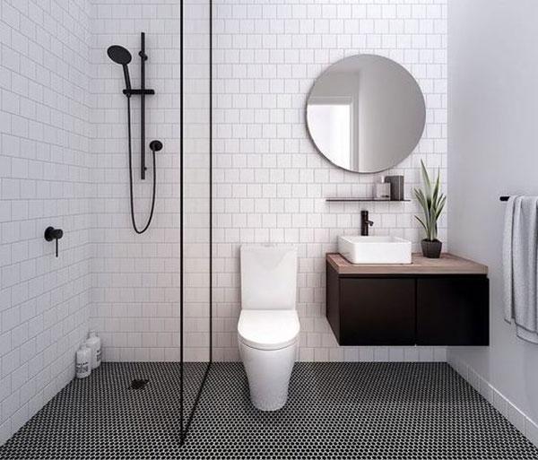 Một số mẫu thiết kế phòng tắm 3m2 1