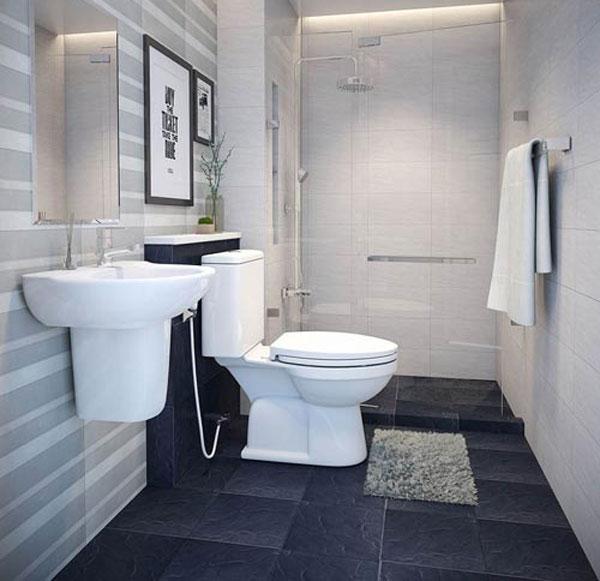 Phòng tắm nhỏ 3m2 sử dụng vạch kính 1
