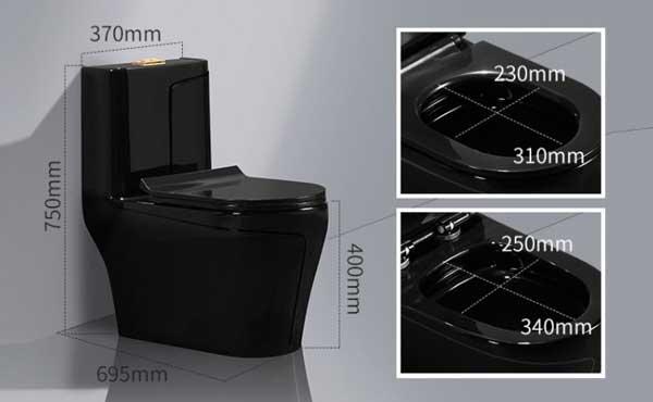 Bồn cầu NP-HC807 màu đen