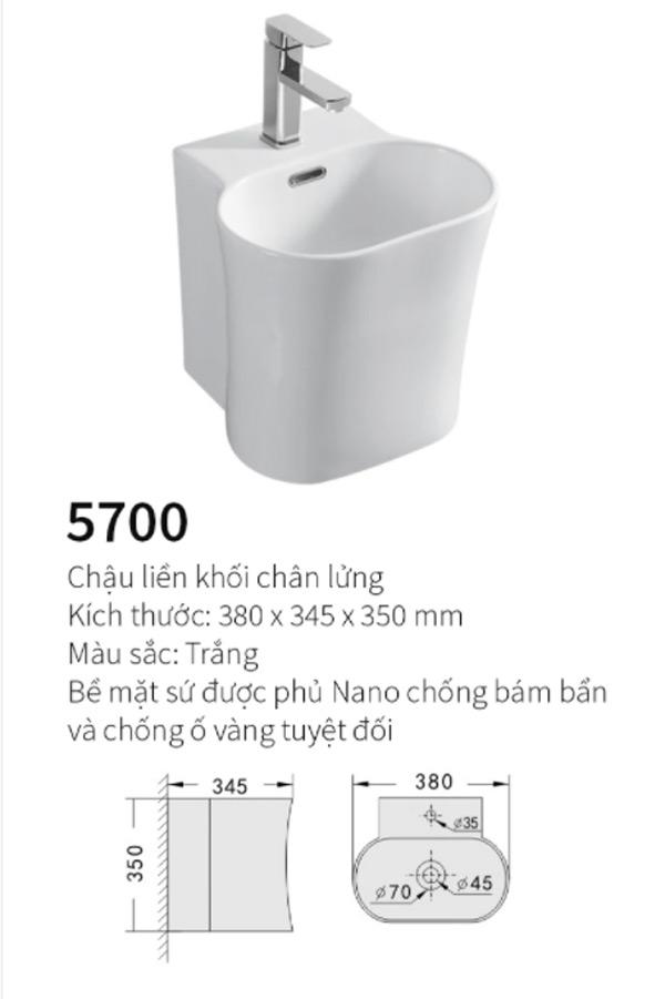 Chậu rửa lavabo Safevn SF 5700